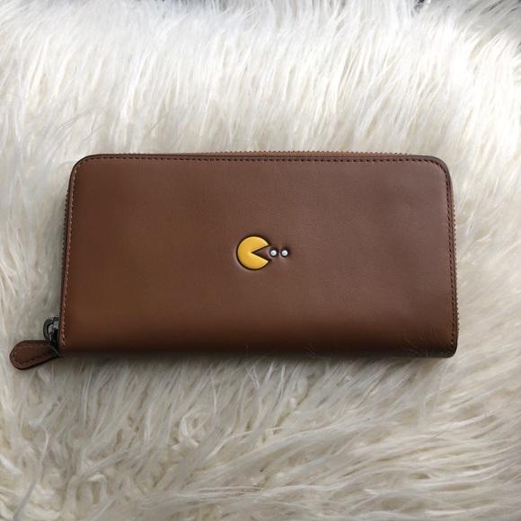 Coach x Pac Man Leather Accordion Wallet